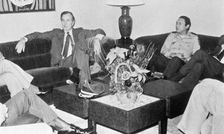 Bush Snr & Manuel Noriega